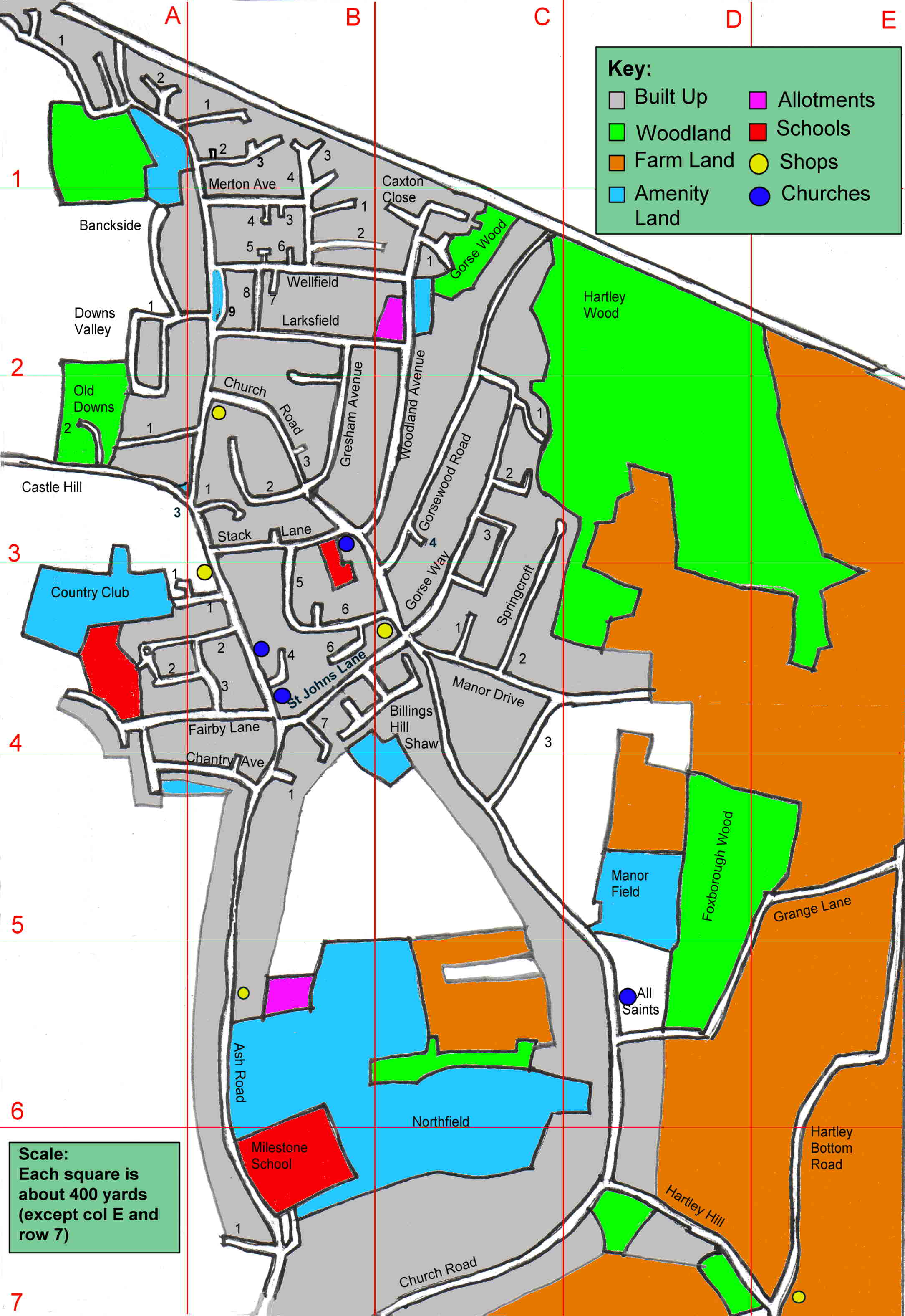 Hartley, Kent - Streetmap and land use map