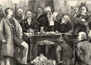 Reading the Result (Illustrated London News 10 April 1880)