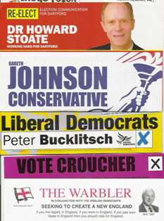 Leaflets for the 2005 Dartford election