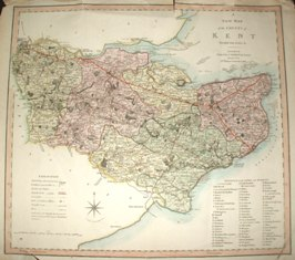 Map of Kent 1808