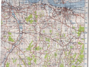 Hartley Kent: War Office Ordnance Survey 1 inch map 1941