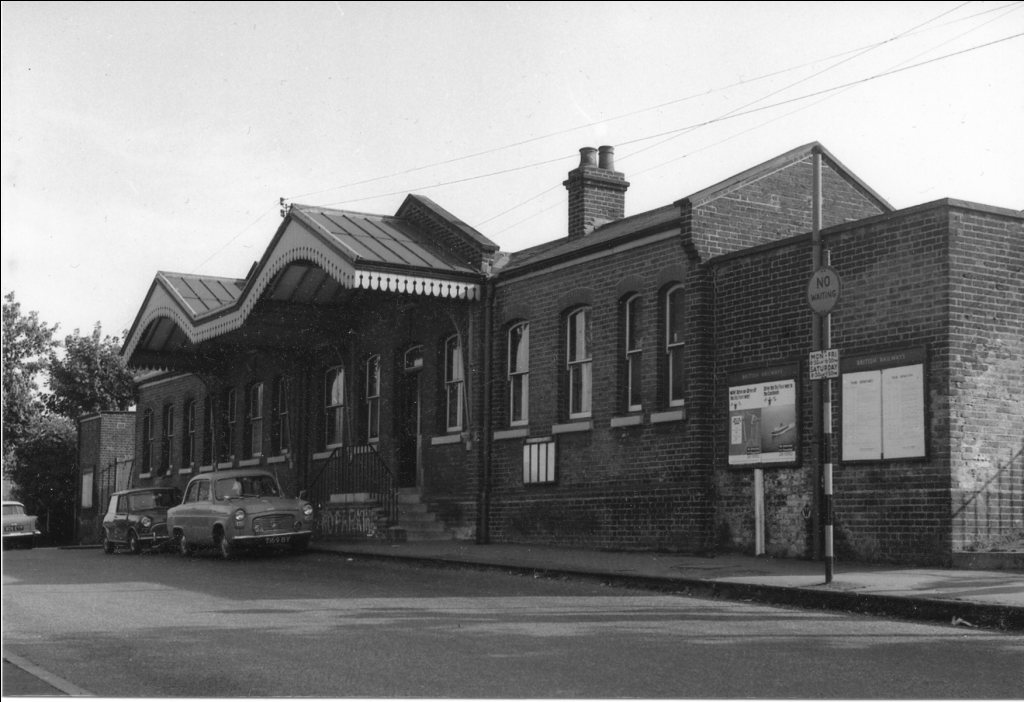 Outside of Longfield Station 1950s