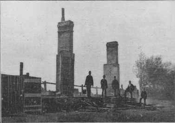 Longfield Station after the fire in 1902