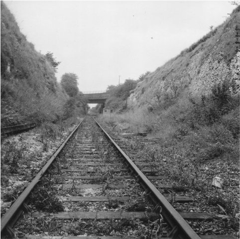 Site of Longfield Halt Station in about 1960