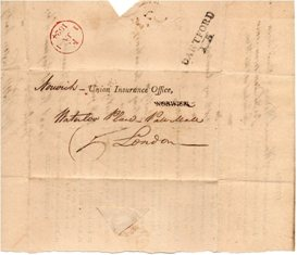 Letter sent from Hartley in 1823