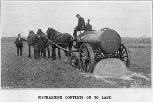 Hartley-Kent: Muck spreading from cesspools at Colnbrook 1915