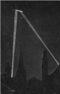 Zeppelin in Searchlights, WW1
