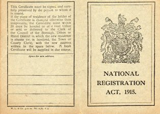 Certificate card of registration under the act, 1915