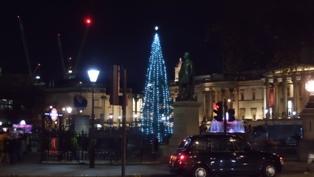 Christmas Scene at Trafalgar Square 2014