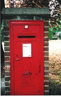 Letter box at Hoselands Green, Ash Road, Hartley, Longfield, Kent