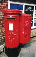 Letter box at Hartley Post Office, Fairby Stores, Ash Road, Hartley, Longfield, Kent