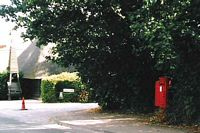 Letter box at junction of Stack Lane and Church Road, Hartley, Longfield, Kent