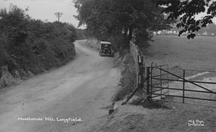 Hartley-Kent: Hoselands Hill before widening in 1925