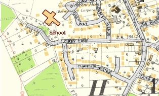 Hartley-Kent: Fairby Lane 1936 map overlaid on the modern map