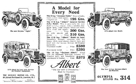 Hartley-Kent: Adam Grimaldi and Co advert 1922